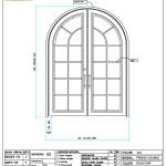 C05-401  FRENCH DOUBLE DOOR LEFT IN